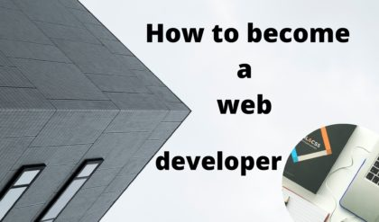 How to become a web developer